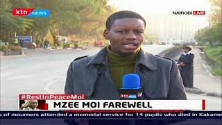 Moi's family gather at Lee funeral home ahead of procession at parliament buildings