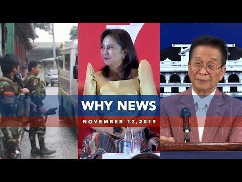 [UNTV]  UNTV: Why News | November 12, 2019