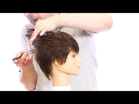 Pixie Haircut Tutorial – How to Cut a Pixie Haircut with a Razor – TheSalonGuy