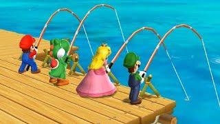 Mario Party 9 Step It Up - Peach vs Mario vs Luigi vs Yoshi Master Difficulty  Cartoons Mee