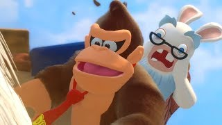 Mario + Rabbids Donkey Kong DLC - Walkthrough Part 1 - World 1