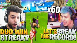 Ninja And I Try To BREAK The Duo Win Streak World Record! - Fortnite Battle Royale