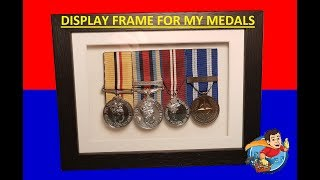 DISPLAY FRAME FOR MY MEDALS