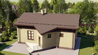 Проект дома 104-B, Площадь дома: 104 м2, Размер дома:  13x10,3 м