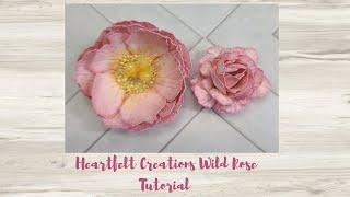 Heartfelt Creations Wild Rose Flower Tutorial - ASC Craft Supplies DT Project