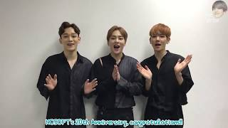 [ENG] 170407 NCSOFT 20th Anniversary - EXO-CBX Video Message [mr.virtue]