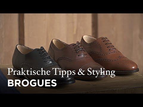 Brogues: Dekorative Lochmuster für den Schuh