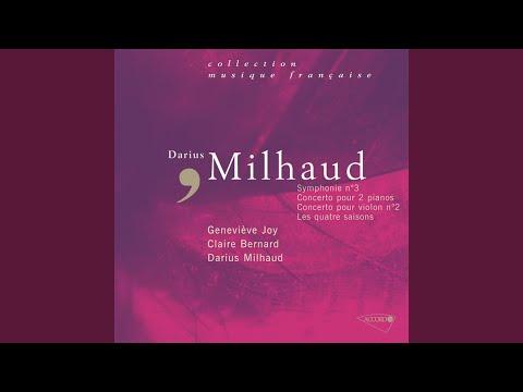 Milhaud: Les Quatre Saisons - 3. Concertino d'automne