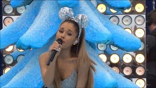 "Ariana Grande ""Santa Tell Me"" 2014 Disney Parks Christmas Day Frozen Parade"