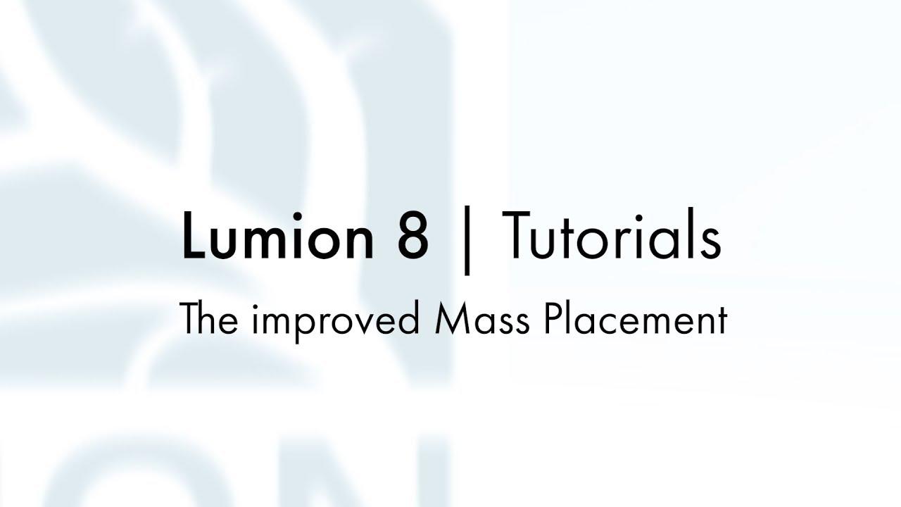 編集モード:改善された集団配置(Lumion8 series)