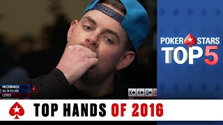 Top Poker Hands Of 2016   PokerStars