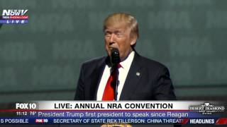 FNN: President Trump Refers to Sen. Elizabeth Warren as POCAHONTAS at 2017 NRA Convention