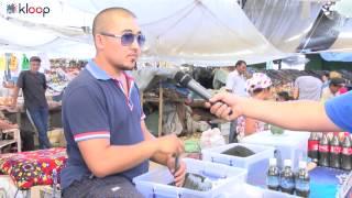 Продавцы Ошского рынка против запрета насвая