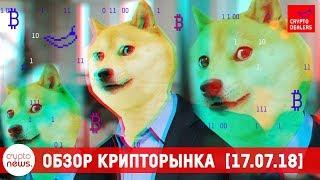 Новости криптовалют и блокчейн: WEX скам? FCoin 100 млн токенов, Robinhood Crypto листинг Dogecoin