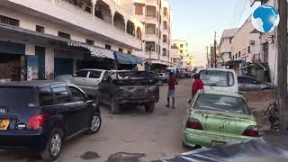 Businesses  along Famous Express - Mombasa minutes before curfew