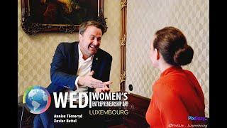 Annica Törneryd interviews Prime Minister Xavier Bettel