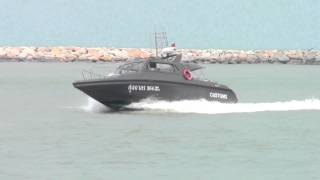 preview picture of video 'Customs Speed boat at Songkhla, Thailand'