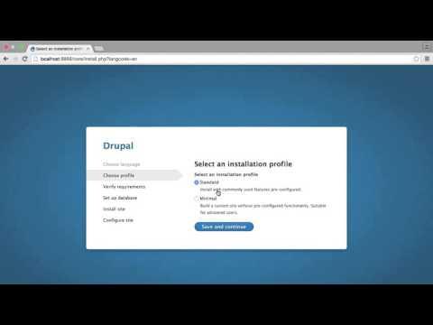 Learning Drupal 8 Tutorial | The Drupal Installer - Part 1 - YouTube