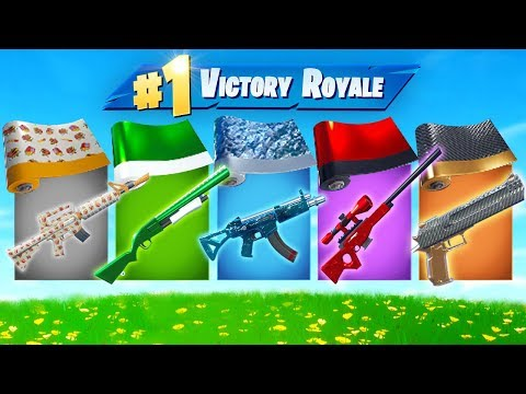 The *RANDOM* WEAPON Skin Challenge In Fortnite!