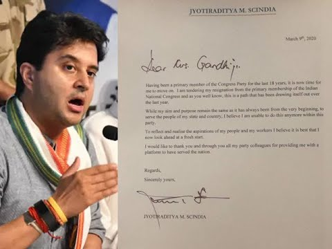 MP political crisis: Jyotiraditya Scindia tenders resignation from Congress