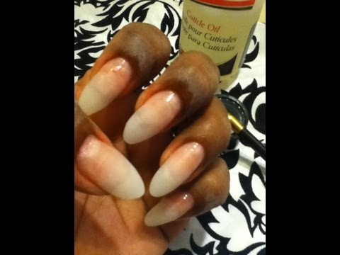 HOW TO DO REFILL (STILETTO NAILS)