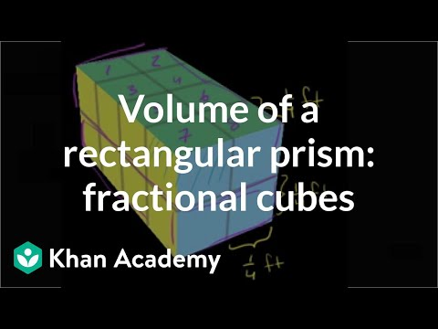 Volume with fractional cubes (video) | Khan Academy