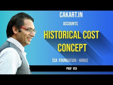 Historical Cost Concept CA CPT/Foundation Accounts by Prof.Ved(Hindi) video