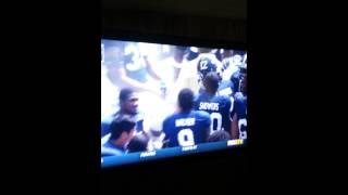 Bj johnson first college career touchdown