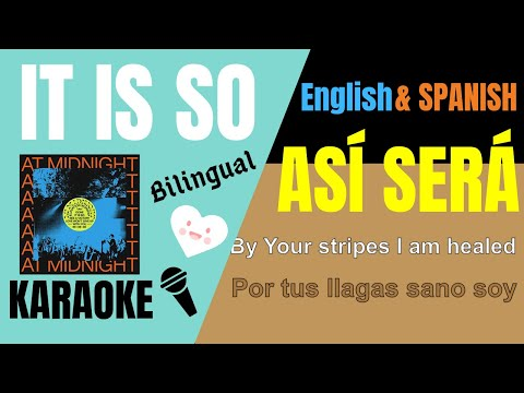 IT IS SO(Así Será) Elevation Worship Karaoke/Instrumental w/lyrics