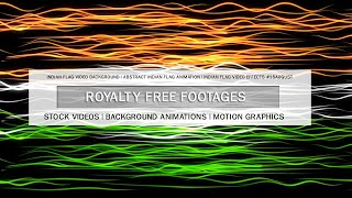 Indian flag video background | Abstract Indian flag animation | Indian flag video effects #15August