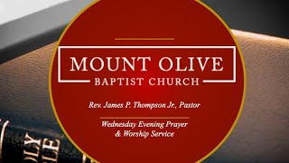 Wednesday Evening Prayer & Worship