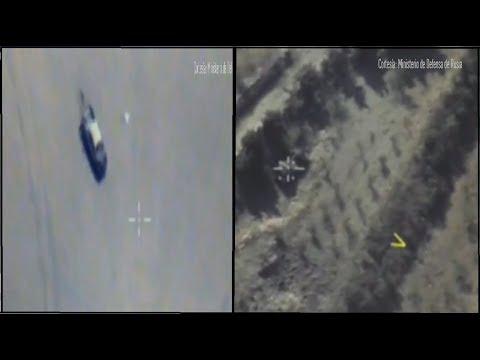A aviação russa destrói armadilha de terroristas na Síria