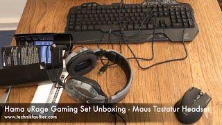 Hama uRage Gaming Set Unboxing - Maus Tastatur Headset