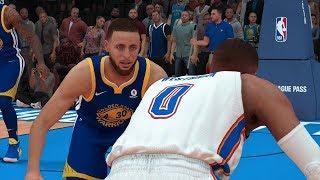 NBA 2K19 Golden State Warriors vs Oklahoma City Thunder Full Game (NBA 2K19 PS4 Pro Gameplay)