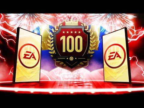 INSANE TOTS PACKED!! TOP 100 ULTIMATE TOTS FUT CHAMPIONS REWARDS! FIFA 19