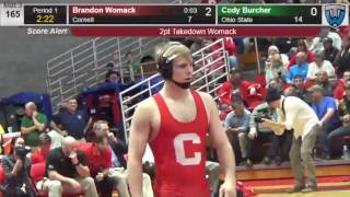 Cornell's Brandon Womack downs Ohio State's Cody Burcher