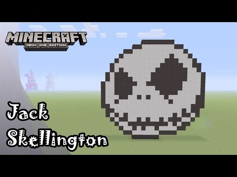 minecraft pixel art tutorial and showcase jack skellington from the nightmare before christmas - Christmas Minecraft Videos