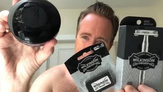 Wet Shaving with Wilkinson Sword Safety Razor, Blades and Shaving Soap