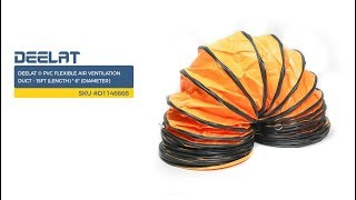 DEELAT ® PVC Flexible Air Ventilation Duct - 15ft (Length) * 6