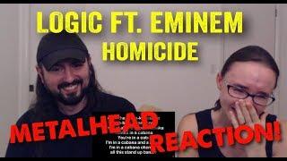 Homicide   Logic Ft. Eminem (REACTION! By Metalheads)