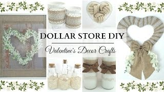 Dollar Store DIYS ~ NEUTRAL Valentines Decor ~ 6 Elegant & Easy Crafts!