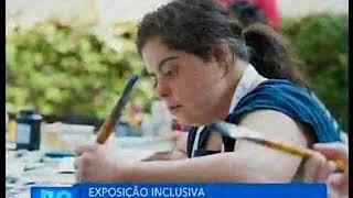 Ermelindo Nardin, artista plástico, expõe obras em conjunto com pessoas com deficiência