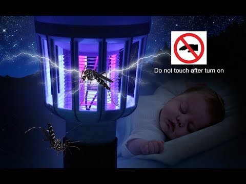 E27 светодиодная лампа 9W 220V и убийца комаров 2в1
