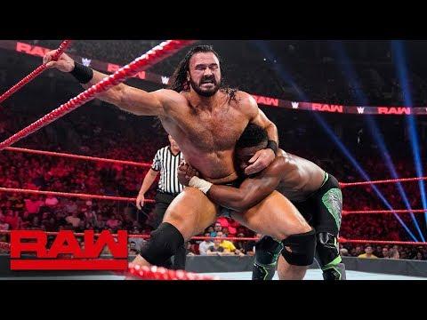 Cedric Alexander vs. Drew McIntyre: Raw, Aug. 12, 2019