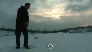 preview picture of video 'Crossgolf in einem verschneiten Steinbruch'