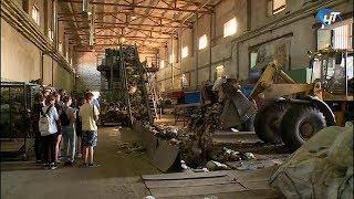 Участникам «Губернаторской школы» провели экскурсию по мусоросортировочному комплексу