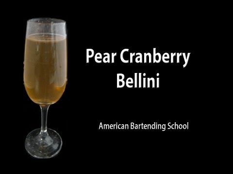 Video Cranberry Pear Holiday Cocktail Drink Recipe