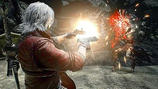 Devil May Cry 5 Dante Gameplay Vs Boss Fight Cavaliere Angelo (Devil Trigger) 2018