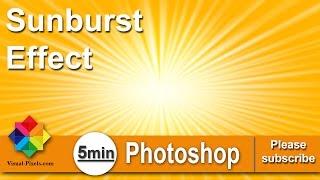 Photoshop Tutorial: How To Create The Sunburst Effect