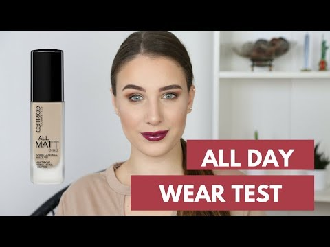 All day wear test: Catrice- all matte plus shine control make up! /BehindTheGlitters
